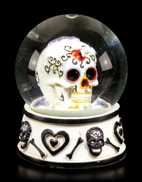 Elefanten Figuren Dekoration Schneekugel - Day Of The Dead Totenkopf - Schwarz | Www