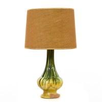 Mid Century Modern Green & Yellow Vase Lamp | Loveseat ...