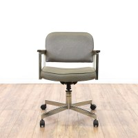 Mid Century Modern Chrome Office Swivel Chair