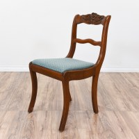 Rose Back Duncan Phyfe Chair w/ Blue Seat | Loveseat ...