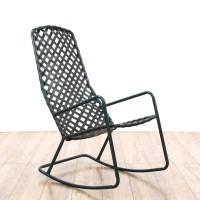 """Brown Jordan"" Tamiami Metal Outdoor Rocking Chair ..."