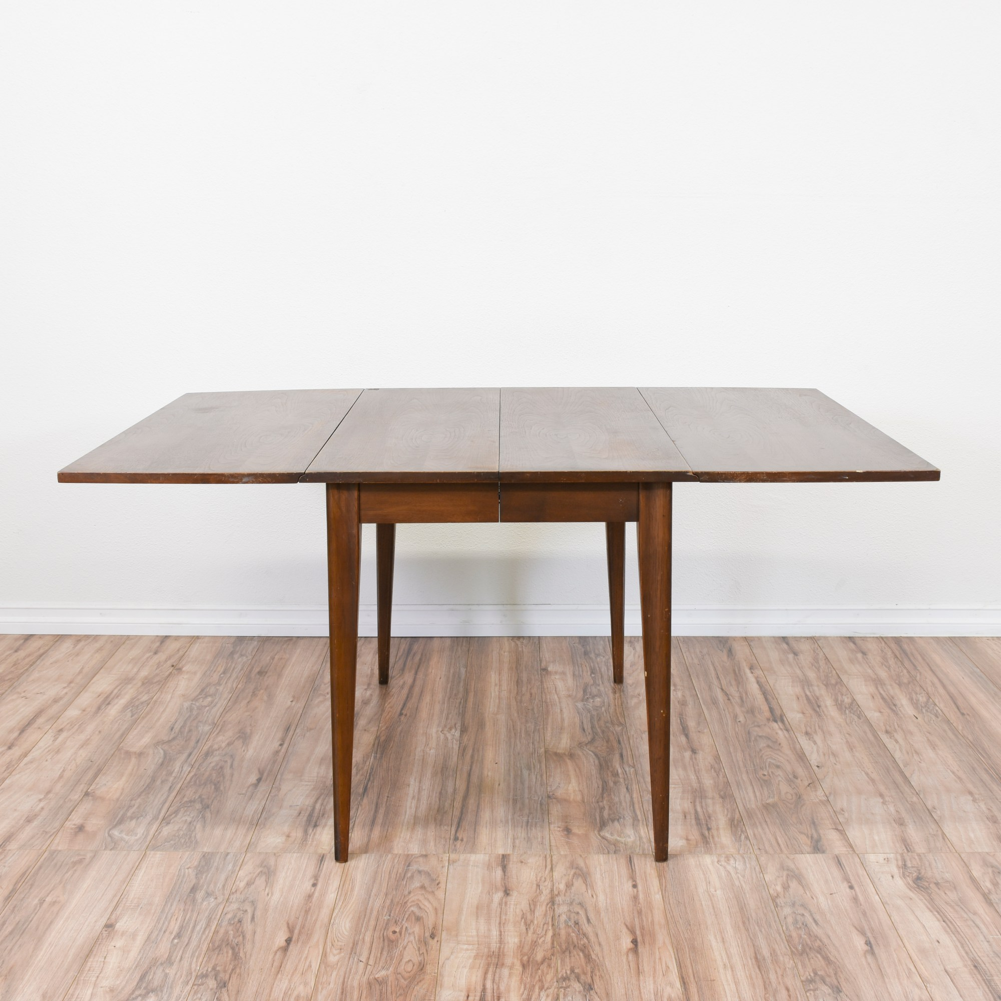 Modern Dining Table With Leaf Mid Century Modern Walnut Drop Leaf Dining Table