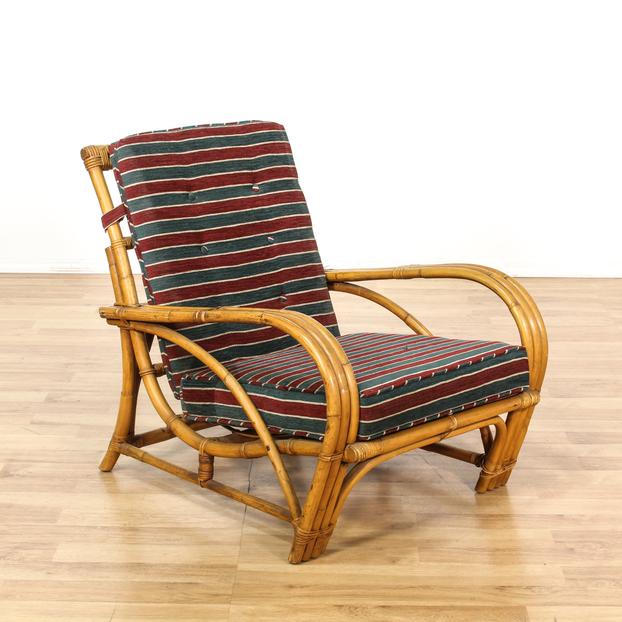 Red Striped Chair Curved Rattan Green And Red Striped Lounge Chair Loveseat