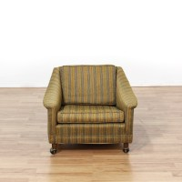 Mid Century Low Profile Green Upholstered Chair | Loveseat ...