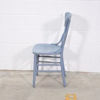 Blue Vintage Industrial Shabby Chic Table 7 Chairs ...