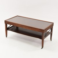 Traditional Coffee Table in Cherry w/ Glass Top | Loveseat ...