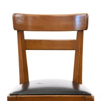 Mid Century Modern Curved Cherry Accent Chair | Loveseat ...