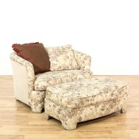 Floral Upholstered Round Back Chair & Ottoman | Loveseat ...