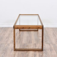Mid Century Modern Glass Top Coffee Table | Loveseat ...