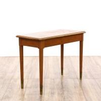Mid Century Modern Maple Piano Storage Bench | Loveseat ...