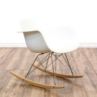 Mid Century Modern Eames Style Rocker Shell Chair ...