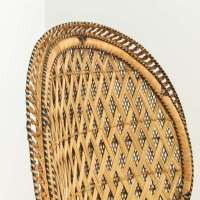 Bohemian Wicker Large Peacock Chair | Loveseat Vintage ...