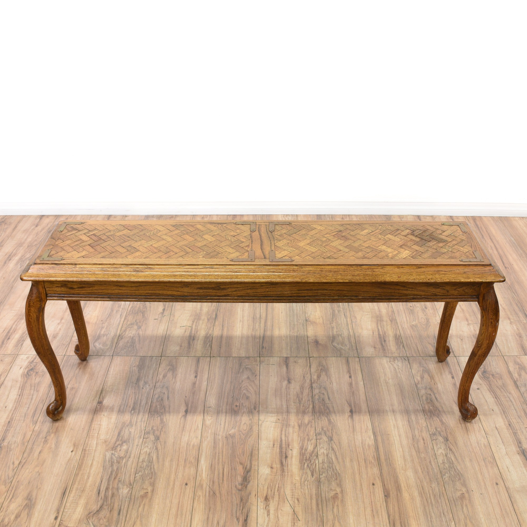 Sofa Queen Anne Style Oak Queen Anne Style Console Sofa Table Loveseat Vintage