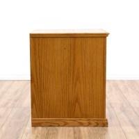 Short Oak 2 Drawer Filing Cabinet | Loveseat Vintage ...
