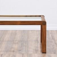 Mid Century Modern Glass Top Coffee Table   Loveseat ...