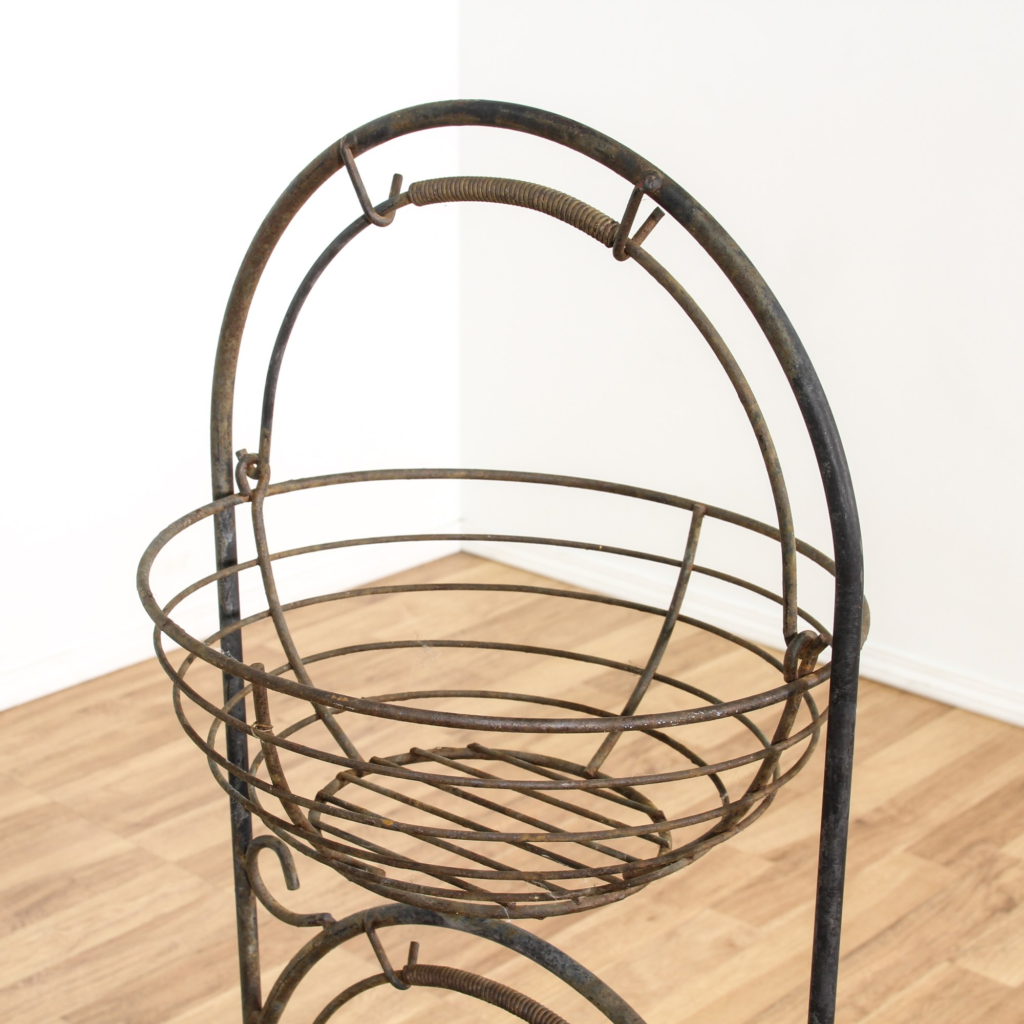 Black Wire Plant Stand Wire Metal Patina Plant Stand W 3 Baskets Loveseat