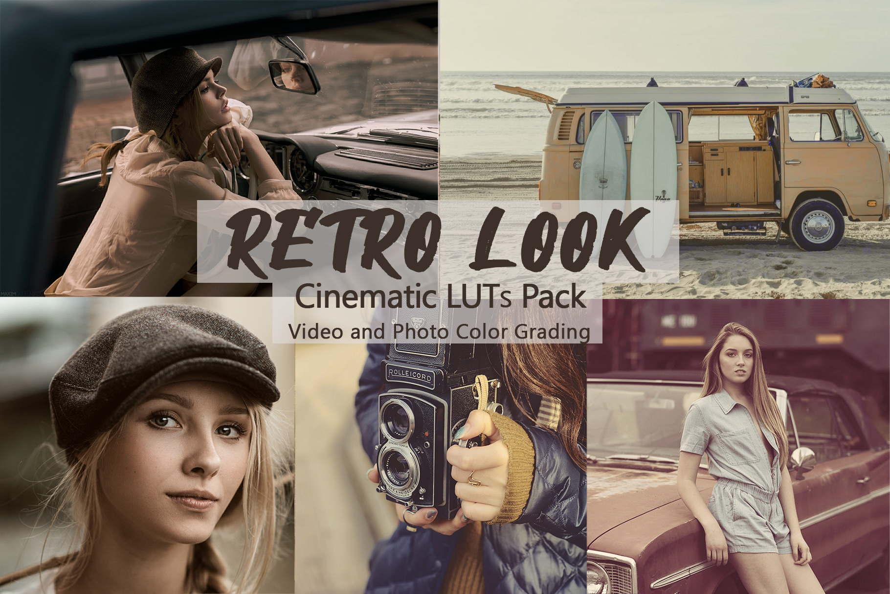 Vintage Look Retro Looks Luts Pack - 10 Luts For Creating Vintage Look - Filtergrade