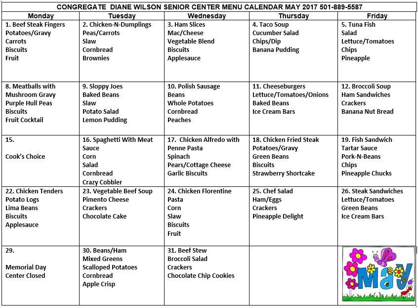 Menu and Activity Calendars