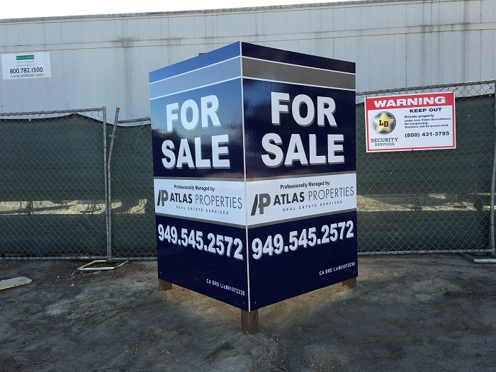 Commercial Real Estate For Lease Signs, Anti-graffiti, Whittier, CA - forsale sign
