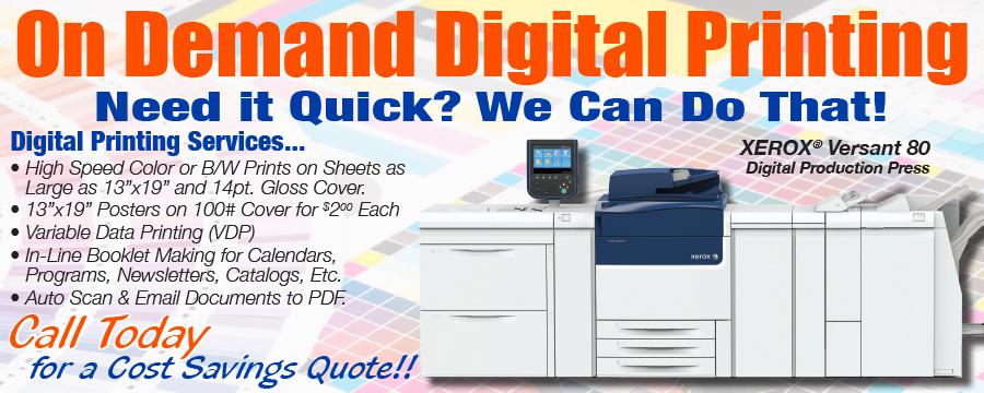 Flint MI Local Printing And Mailing Company Digital  Offset Printing