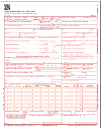 CMS HCFA 1500 Forms - claim form in pdf