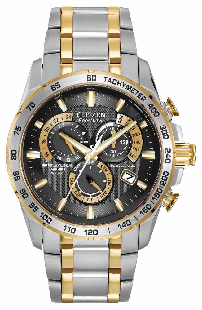 Gold Perpetual Calendar Chronograph Seiko Perpetual Calendar Watch Premier Titanium Citizen Radio Controlled Perpetual Watch At4004 52e