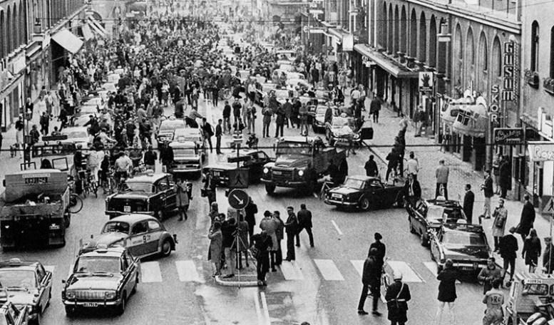 Переход Швеции с левостороннего на правостороннее движение, 1967 год история, факты, фото