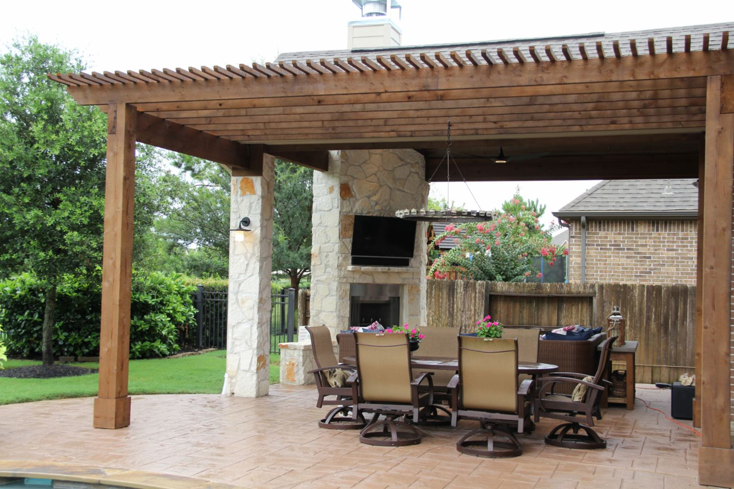 Patio Covers Outdoor Kitchens Fire Features In Katy Tx