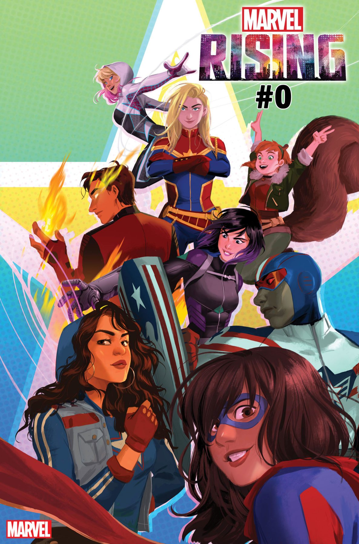 Marvel Power Girl Wallpaper Ms Marvel And Squirrel Girl Team Up With America Inferno