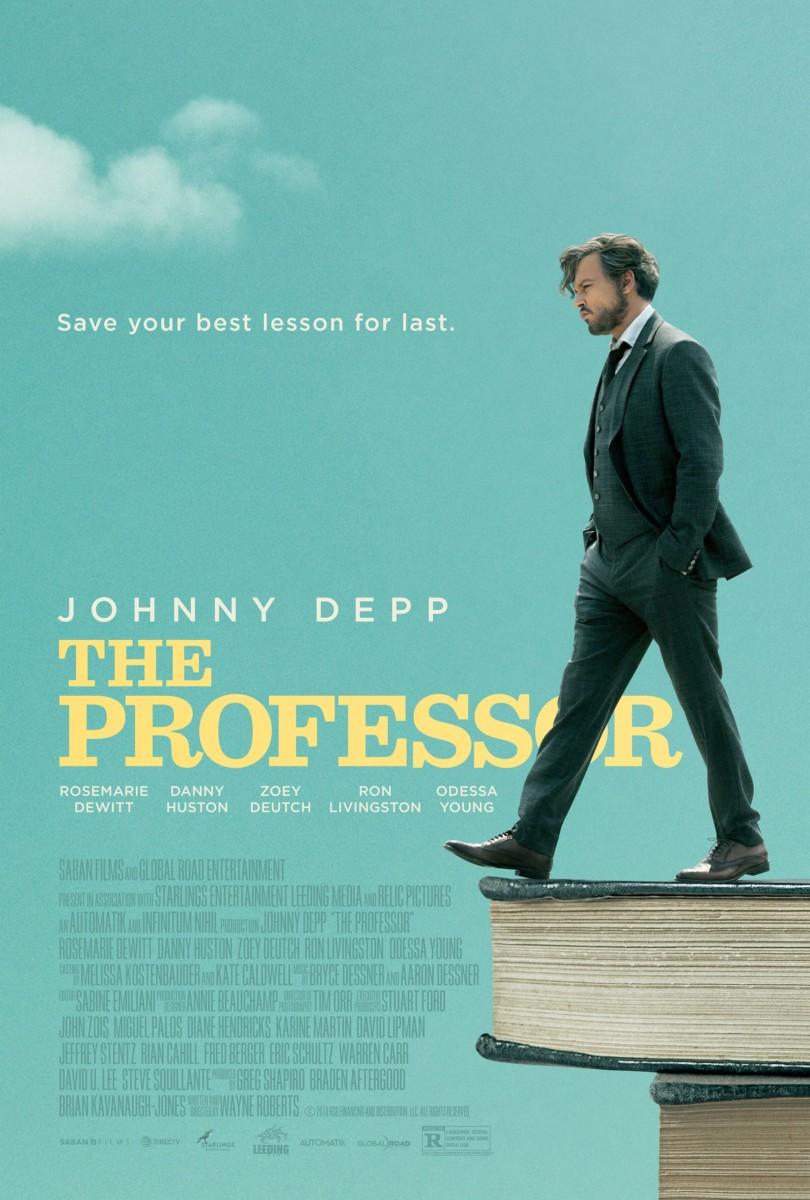 24 Movie Official Poster For The Professor Starring Johnny Depp