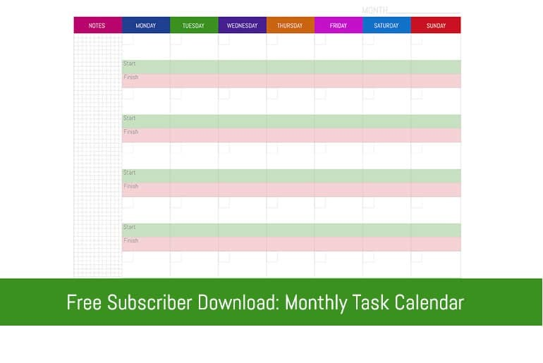 Monthly Task Planning Calendar Flipping Heck! Learning To Be