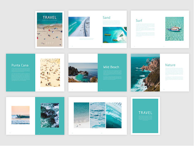 Free Travel Brochure Template- Free InDesign Template - phamplet template