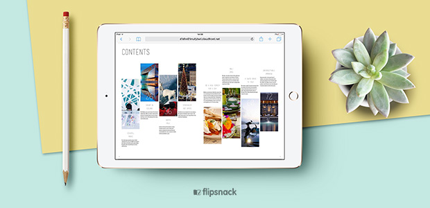 Design a creative table of contents - templates and examples