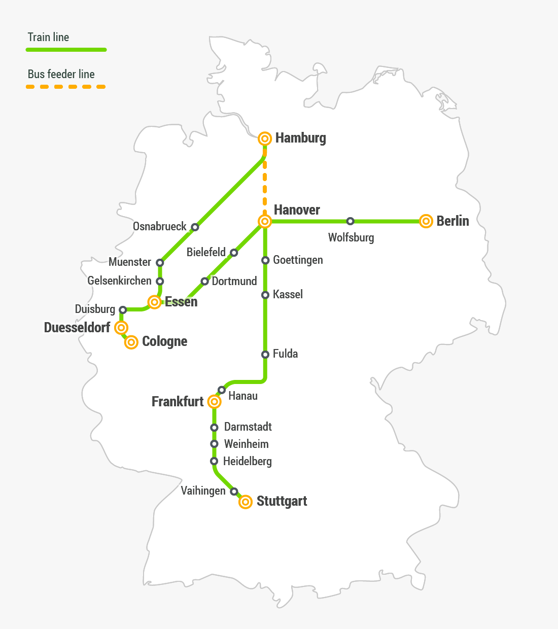 S-bahn Plan Von Hamburg Fast Train Travel In Germany Flixtrain