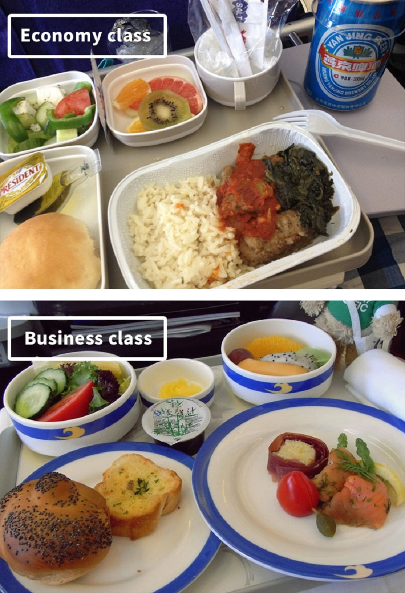 Air Lines Thai Airplane Food: Economy Vs. First Class Meals On 19 Airlines