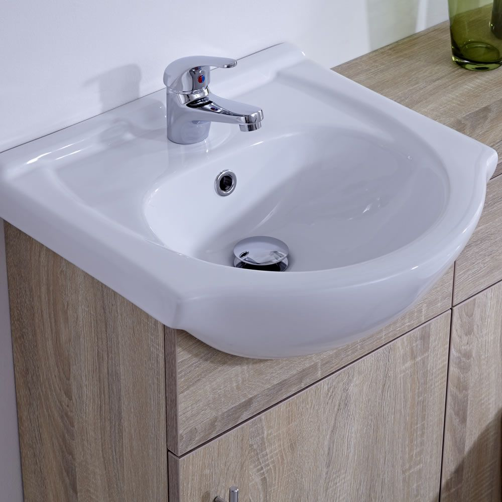 Installer Vasque à Poser Meuble-lavabo & Toilette Wc 41x78x30cm Classic Oak