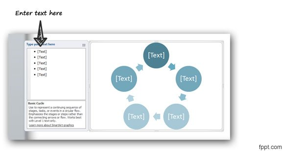circular arrow flow chart template