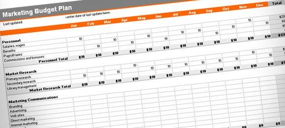 Budget Plan Template - budget plan template