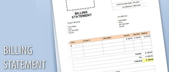 Billing Statement Template for Word - billing statement template
