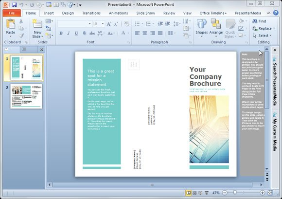 Simple Brochure Templates for PowerPoint - free pamphlet design