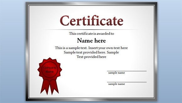 Free Certificate Template for PowerPoint 2010 \ 2013 - free template certificate