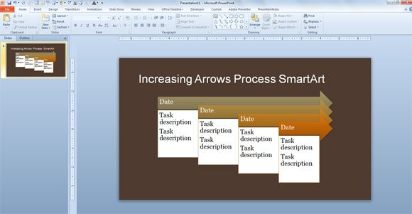 Simple Process Timeline Template for PowerPoint 2013 - simple timeline template