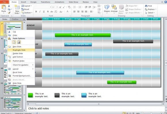 How to Make a Calendar in PowerPoint 2010 using Shapes and Tables - powerpoint calendar template