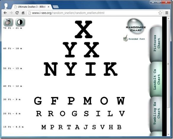 Best Digital Eye Chart Generators For Testing Visual Acuity - eye chart template