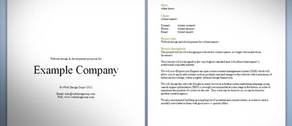 Download Free Website Proposal Template for Web Designers - proposal template in word