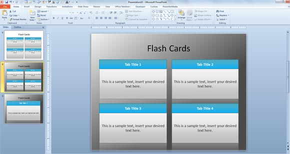 Free Flash Card Template for PowerPoint - flash card template