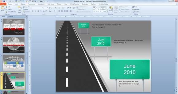 free powerpoint road map template