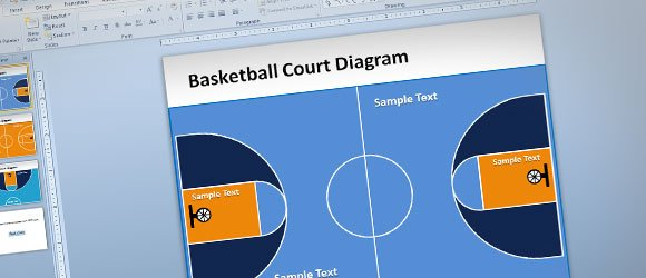 Basketball Court PowerPoint Template - basketball powerpoint template