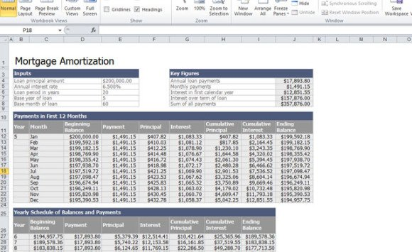 mortgage loan calculator in excel - My Mortgage Home Loan - Mortgage Amortization Calculator