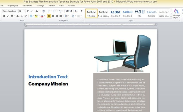 Business Report Template For Microsoft Word - company report template